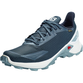 Salomon Alphacross Blast GTX Shoes Men dark denim/white/ashley blue